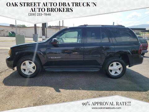 2002 Chevrolet TrailBlazer for sale at Oak Street Auto DBA Truck 'N Auto Brokers in Pocatello ID