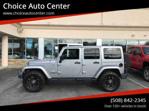 2014 Jeep Wrangler Unlimited for sale at Choice Auto Center in Shrewsbury MA