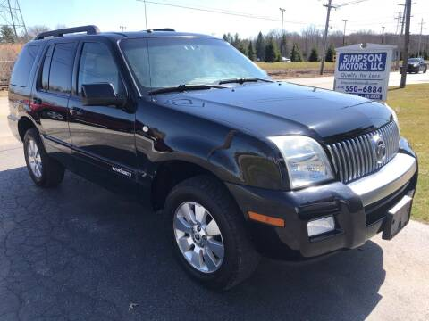 2008 Mercury Mountaineer for sale at SIMPSON MOTORS in Youngstown OH