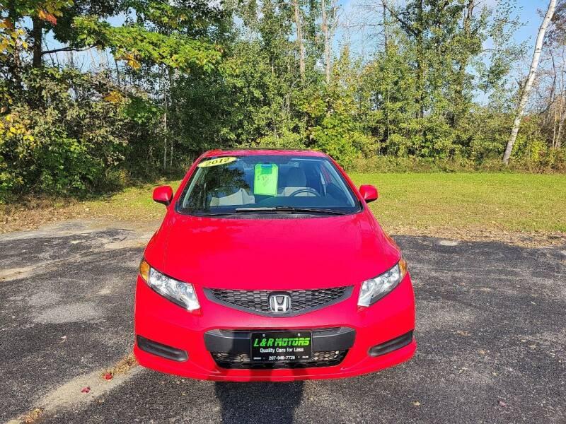 2012 Honda Civic for sale at L & R Motors in Greene ME