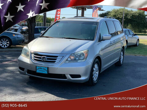 2010 Honda Odyssey for sale at Central Union Auto Finance LLC in Austin TX
