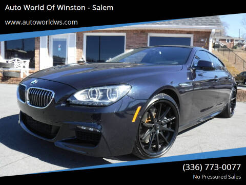 2015 BMW 6 Series for sale at Auto World Of Winston - Salem in Winston Salem NC