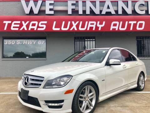 2012 Mercedes-Benz C-Class for sale at Texas Luxury Auto in Cedar Hill TX