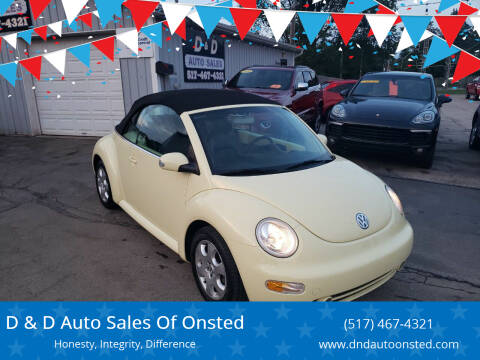 2003 Volkswagen New Beetle Convertible for sale at D & D Auto Sales Of Onsted in Onsted MI