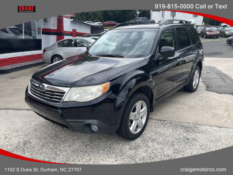 2010 Subaru Forester for sale at CRAIGE MOTOR CO in Durham NC