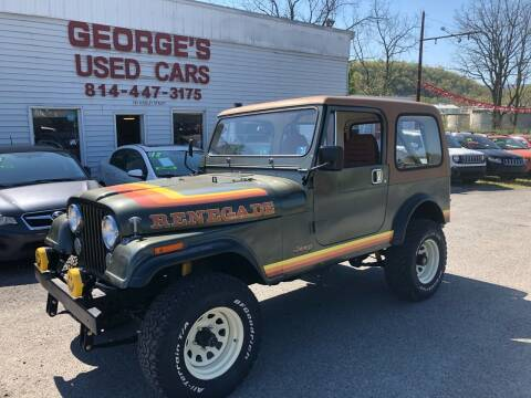 1985 Jeep CJ-7 for sale at George's Used Cars Inc in Orbisonia PA