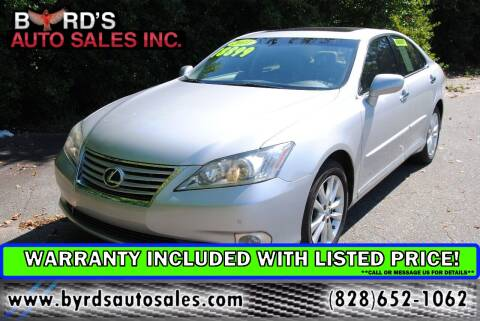 2011 Lexus ES 350 for sale at Byrds Auto Sales in Marion NC