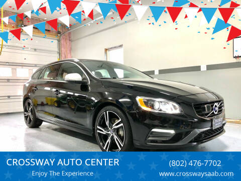 2017 Volvo V60 for sale at CROSSWAY AUTO CENTER in East Barre VT