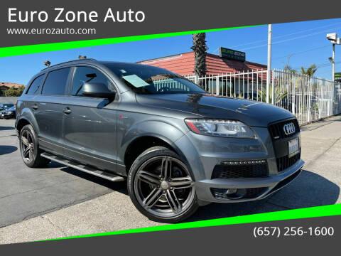2014 Audi Q7 for sale at Euro Zone Auto in Stanton CA