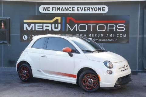 2015 FIAT 500e for sale at Meru Motors in Hollywood FL