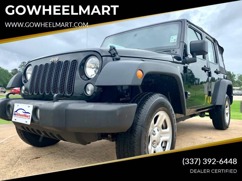 2017 Jeep Wrangler Unlimited for sale at GOWHEELMART in Leesville LA