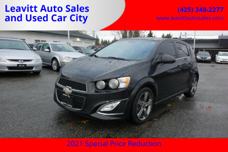 2013 Chevrolet Sonic for sale at Leavitt Auto Sales and Used Car City in Everett WA