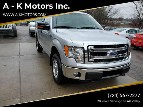 2013 Ford F-150 for sale at A - K Motors Inc. in Vandergrift PA