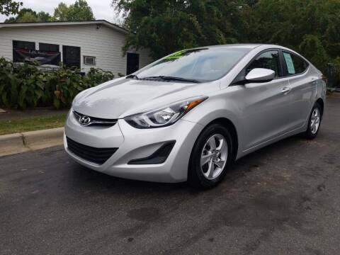 2015 Hyundai Elantra for sale at TR MOTORS in Gastonia NC
