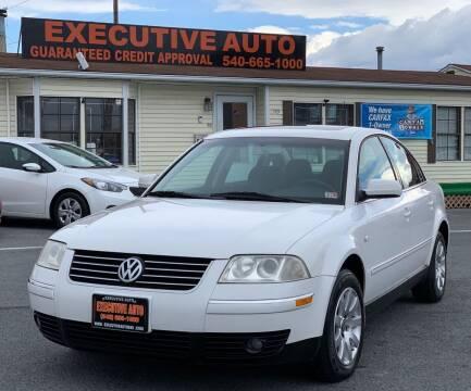 2002 Volkswagen Passat for sale at Executive Auto in Winchester VA
