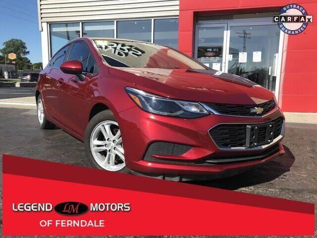 2017 Chevrolet Cruze for sale at Legend Motors of Waterford - Legend Motors of Detroit in Detroit MI