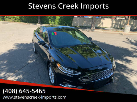 2017 Ford Fusion for sale at Stevens Creek Imports in San Jose CA