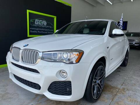 2017 BMW X4 for sale at GCR MOTORSPORTS in Hollywood FL