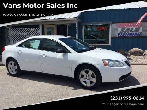 2009 Pontiac G6 for sale at Vans Motor Sales Inc in Traverse City MI