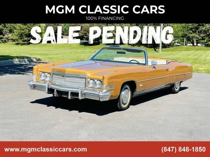 1974 Cadillac Eldorado for sale at MGM CLASSIC CARS in Addison IL