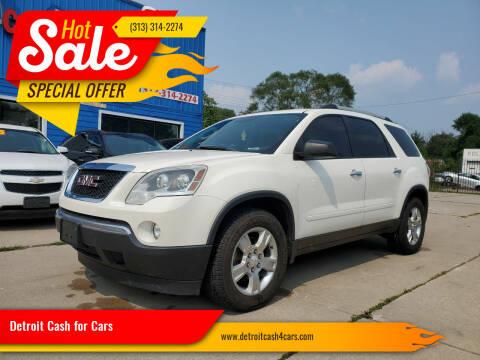 2012 GMC Acadia for sale at Detroit Cash for Cars in Warren MI