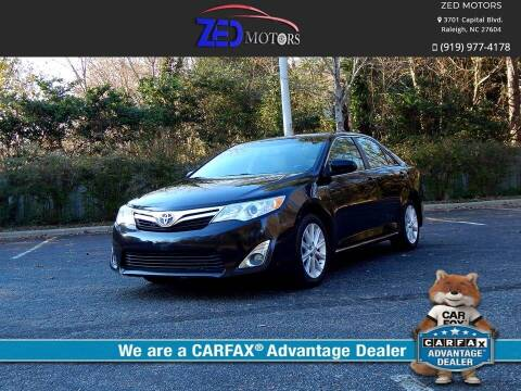 2014 Toyota Camry for sale at Zed Motors in Raleigh NC