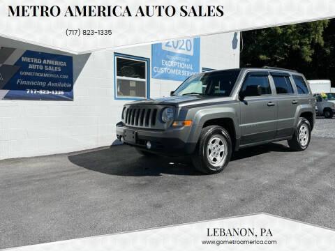 2013 Jeep Patriot for sale at METRO AMERICA AUTO SALES of Lebanon in Lebanon PA