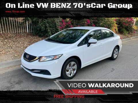 2014 Honda Civic for sale at On Line VW BENZ 70'sCar Group in Warehouse CA