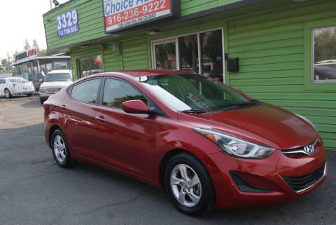 2014 Hyundai Elantra for sale at Amazing Choice Autos in Sacramento CA