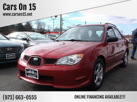 2007 Subaru Impreza for sale at Cars On 15 in Lake Hopatcong NJ