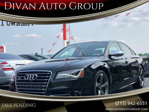 2014 Audi S8 for sale at Divan Auto Group in Feasterville PA