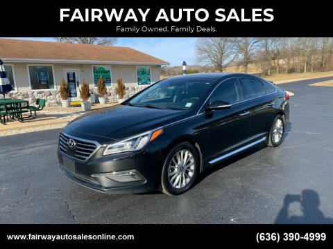 2015 Hyundai Sonata for sale at FAIRWAY AUTO SALES in Washington MO