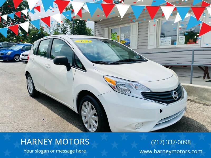 2014 Nissan Versa Note for sale at HARNEY MOTORS in Gettysburg PA