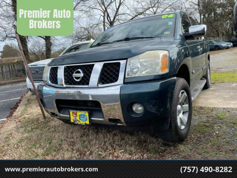 2006 Nissan Armada for sale at Premier Auto Brokers in Virginia Beach VA