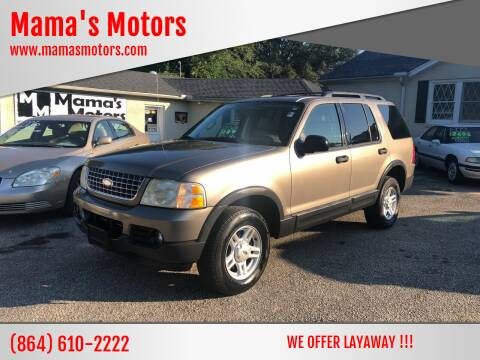 2003 Ford Explorer for sale at Mama's Motors in Greer SC