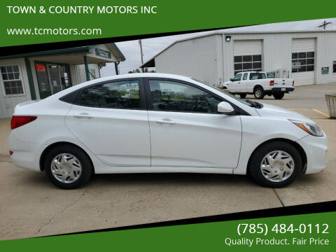 2016 Hyundai Accent for sale at TOWN & COUNTRY MOTORS INC in Meriden KS