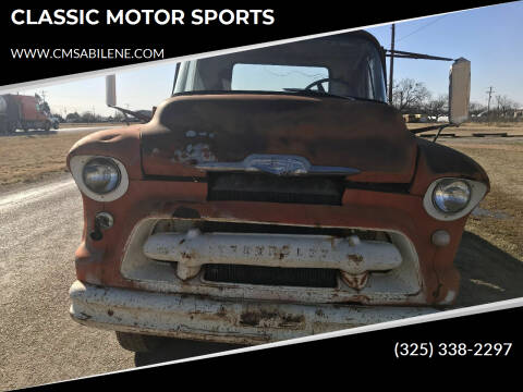 1956 Chevrolet C5500 for sale at CLASSIC MOTOR SPORTS in Winters TX