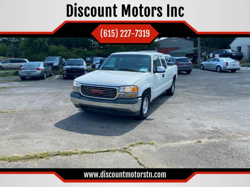 2000 GMC Sierra 1500 for sale at Discount Motors Inc in Nashville TN