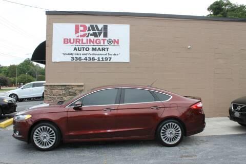 2016 Ford Fusion for sale at Burlington Auto Mart in Burlington NC