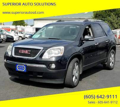 2012 GMC Acadia for sale at SUPERIOR AUTO SOLUTIONS in Spearfish SD