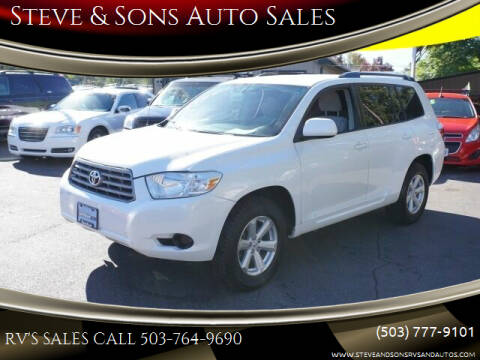 2008 Toyota Highlander for sale at Steve & Sons Auto Sales in Happy Valley OR
