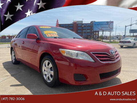 2010 Toyota Camry for sale at A & D Auto Sales in Joplin MO