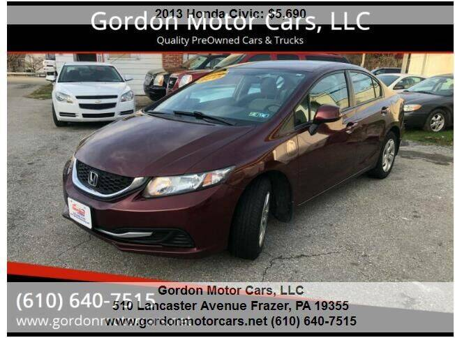 2013 Honda Civic for sale at Gordon Motor Cars, LLC in Frazer PA