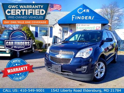 2015 Chevrolet Equinox for sale at CAR FINDERS OF MARYLAND LLC - Certified Cars in Eldersburg MD