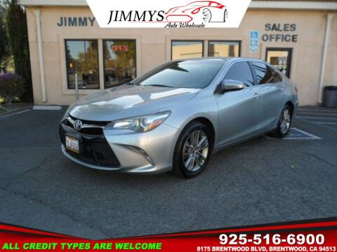 2015 Toyota Camry for sale at JIMMY'S AUTO WHOLESALE in Brentwood CA