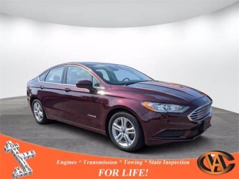2018 Ford Fusion Hybrid for sale at VA Cars Inc in Richmond VA