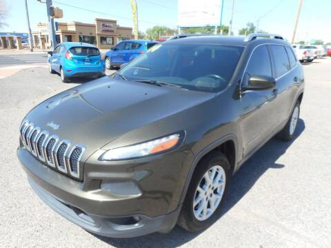 2014 Jeep Cherokee for sale at AUGE'S SALES AND SERVICE in Belen NM