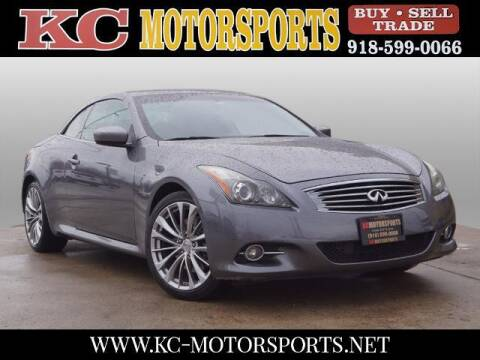 2011 Infiniti G37 Convertible for sale at KC MOTORSPORTS in Tulsa OK