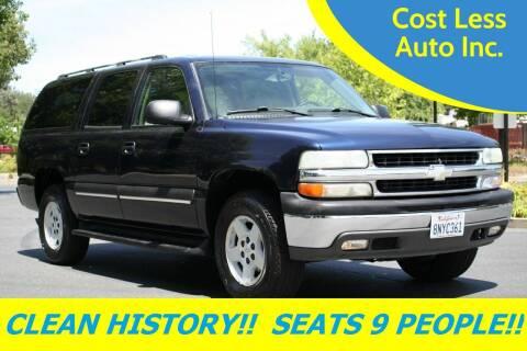 2004 Chevrolet Suburban for sale at Cost Less Auto Inc. in Rocklin CA