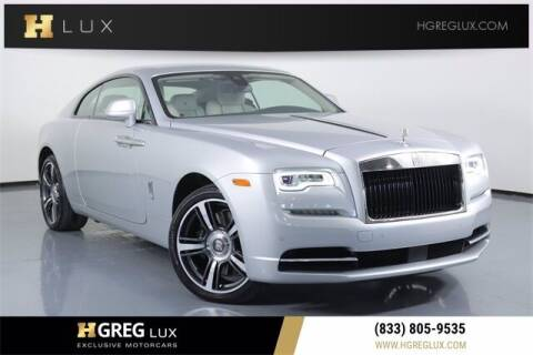 2019 Rolls-Royce Wraith for sale at HGREG LUX EXCLUSIVE MOTORCARS in Pompano Beach FL